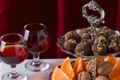 Desserttruffels Stock Foto's