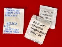 Dessicant, gel de silicona Foto de archivo