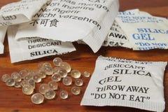 Dessicant, sylikatowy gel zdjęcie royalty free