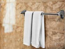 Dessiccateur avec les serviettes molles image stock