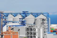 Dessiccateur de grain de port photo stock
