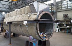 Dessiccateur industriel en construction images stock