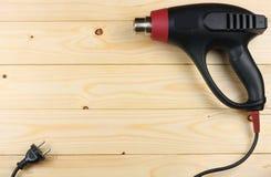 dessiccateur industriel sur le fond en bois clair avec l'espace de copie Vue supérieure texture d'outils Usine le fond photo stock