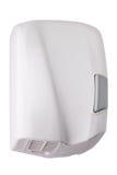 Dessiccateur manuel de main fait de plastique blanc, forme élégante photo stock