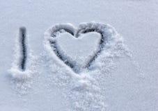 Dessiné dans la neige Images libres de droits