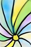 Dessin abstrait avec le motif floral et le mouvement en spirale des lignes illustration de vecteur
