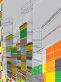 Dessin abstrait d'architecture Photographie stock libre de droits