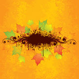 dessin abstrait d'automne Photo libre de droits