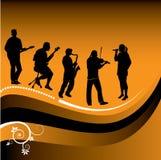 Dessin abstrait des musiciens Image libre de droits