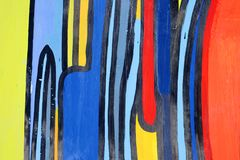 Dessin abstrait sur le mur, art de rue illustration libre de droits