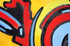 Dessin abstrait sur le mur, art de rue illustration stock