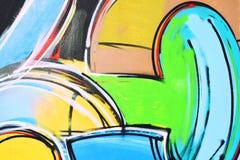 Dessin abstrait sur le mur, art de rue, graffiti photos libres de droits
