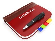 Dessin affichant un carnet avec un crayon lecteur Image libre de droits