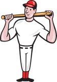 Dessin animé américain d'ouate en feuille de joueur de baseball Image stock