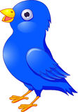 Dessin animé bleu d'oiseau Photo libre de droits