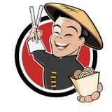 Dessin animé chinois drôle de nourriture Photo libre de droits