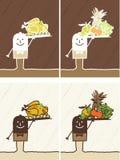 Dessin animé coloré par serveur Photographie stock libre de droits