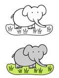 Dessin animé d'éléphant Illustration de Vecteur