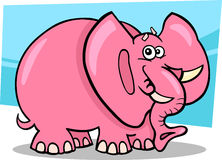 Dessin animé d'éléphant rose Photographie stock libre de droits