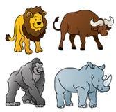 Dessin animé d'animaux sauvages Image libre de droits