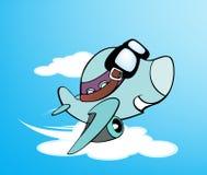 dessin animé d'avion illustration stock
