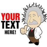Dessin animé d'Einstein Photo libre de droits