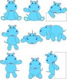 Dessin animé d'hippopotame Photo libre de droits
