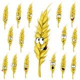 Dessin animé d'oreille de blé Photos libres de droits