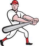 Dessin animé d'ouate en feuille de joueur de baseball Image libre de droits