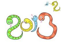 dessin animé de 2013 serpents Image libre de droits