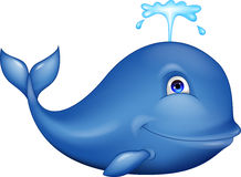 Dessin animé de baleine bleue Photographie stock libre de droits