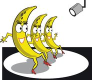 Dessin animé de bananes de danse Photo stock