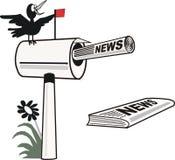 Dessin animé de boîte aux lettres Image libre de droits
