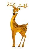 Dessin animé de cerfs communs, avec l'abstrait floral Photographie stock libre de droits
