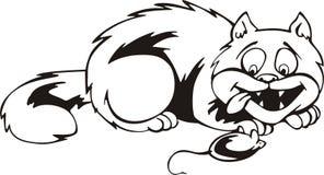 Dessin animé de chat et de souris Photos stock