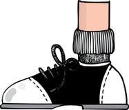 Dessin animé de chaussure de selle Image stock