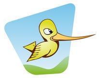 Dessin animé de colibri Photos libres de droits
