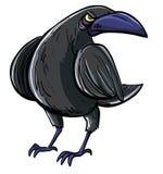 Dessin animé de corneille noire mauvaise illustration de vecteur