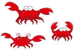 Dessin animé de crabe Image stock