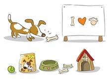 Dessin animé de crabot Image libre de droits