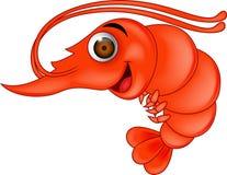 Dessin animé de crevette rose illustration de vecteur