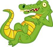 Dessin animé de crocodile Image libre de droits