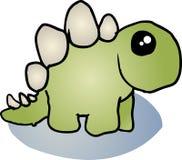 Dessin animé de dinosaur de Stegosaurus illustration libre de droits