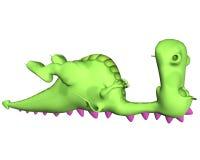 Dessin animé de dragon - ronflement Images libres de droits