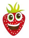 Dessin animé de fraise Image libre de droits