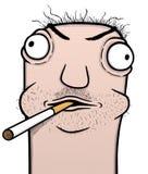 Dessin animé de fumeur Image libre de droits