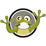 Dessin animé de grenouille Image libre de droits