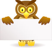 Dessin animé de hibou Photo stock
