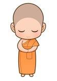 Dessin animé de moine bouddhiste Photo libre de droits