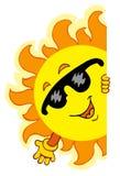 Dessin animé de ondulation Sun Photo stock